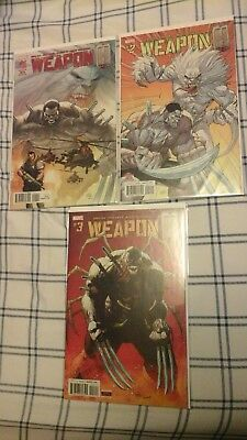 Weapon H 1-3 FIRST PRINTS MARVEL COMICS  WOLVERINE  HULK   NM