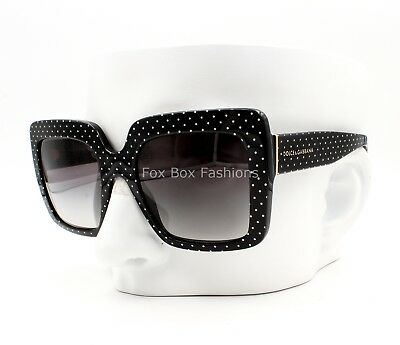 3b97c4f0e520 DOLCE   GABBANA DG 4310 3126 8G Sunglasses Black   White Polka Dots ~ 52mm