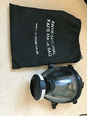Drager F2 Full Face Mask with Head Harness, Filter Slot and Carry Bag