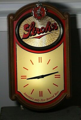 1985 Stroh's Beer Electric Motion Light Advertising Wall Clock