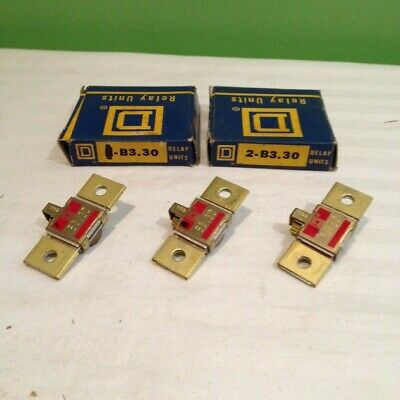 Lot Of 3 Square D B3.30 Overload Relay Thermal Unit Brand New Free Shipping