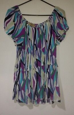 6d478980c3e PLUS SIZE 1X multi colored VERTICAL STRIPED CAREER BLOUSE by MILANO ...