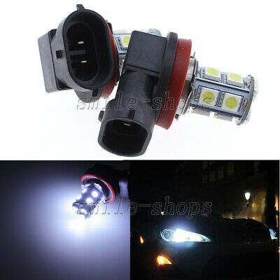 2pcs H11 LED Fog Light Bulbs - 13SMD 6000K Bright White - DRL Driving Light Bulb
