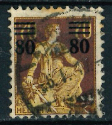 SWITZERLAND HELVETIA OLD STAMPS 1915 - 1908 Stamp Surcharged - USED