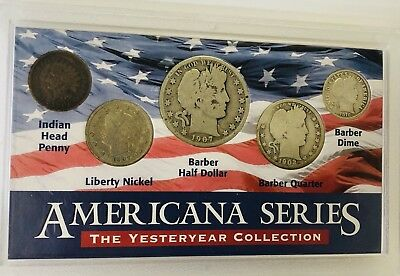 Americana Series –The Yesteryear Collection – Five Coin Set Acrylic Display Case