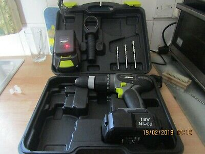 Xtreme 18V cordless drill.with charger and two batteries in excellent condition