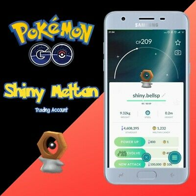Shiny Meltan Pokémon Go - 100% Safe Trading Account -  Caught by hand