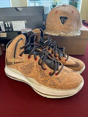 100% authentic 30684 41271 Nike Lebron X 10 Ext Cork Qs Size 11 Brand New DS 2013 With Hater Stapback