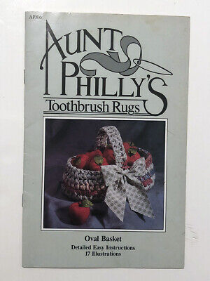Aunt Philly's TOOTHBRUSH RUGS Oval Basket pattern instructions ills book