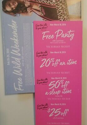 Victoria's Secret 4 Promo $25 Off Get Free Panty 20% Off 50% Off Sleep Item