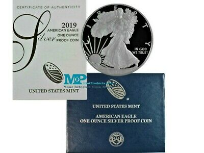 2019-W Proof Silver Eagle - Complete with Original Government Packaging & COA