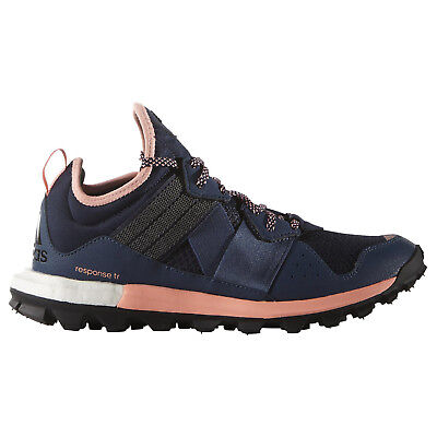 newest 874ad 62bcc NEW ADIDAS RESPONSE TR Boost Womens Trail Running Shoes Hiking Blue - 10.5