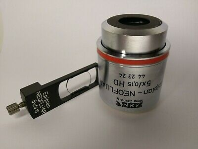 Zeiss Microscope Objective Epiplan-Neofluar 5x HD M27 & DIC Slider Excellent !