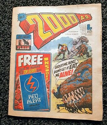 2000ad prog 3 comic - 12 March 1977 (LOT#5060)