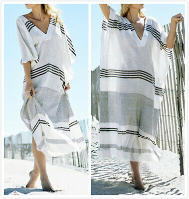 51ff1523cc Au Stock Soft Cotton Oversize Kaftan Tunic Beach Kimono Dress Bikini Cover  Dr204