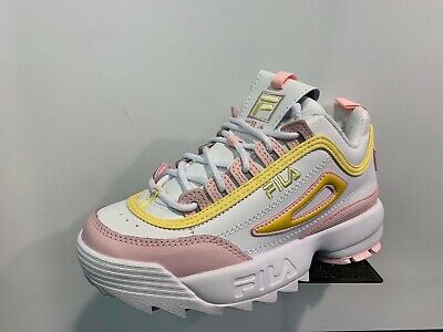 FILA DISRUPTOR 2 PRM Repeat White Pink Yellow GS Girls Women
