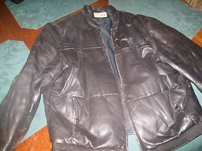Vintage Leather Coat- Mens 42