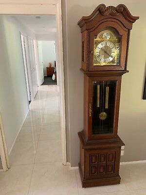 Grandfather Clock Tempus Fugit - in great working order. Beautiful chime.