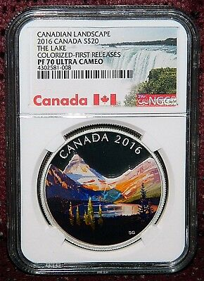 2016 Canada $20 Canadian Landscape The Lake Silver Coin Ngc Pf 70 Ultra Cameo Fr