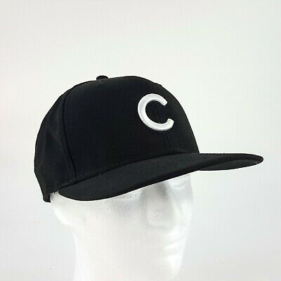 7a53e719e New Era 59Fifty Cap MLB Chicago Cubs Baseball Black Fitted 7 3/8 Hat 5950
