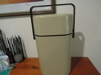 Vintage Retro DECOR Wine Drinks Water Cooler BEIGE COMPLETE WITH CHILLER PACK