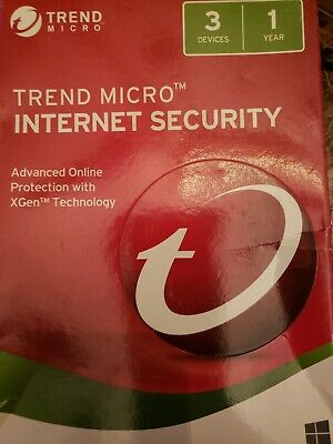 Trend Micro Internet Security 2018 3 Devices 1 Year New Sealed