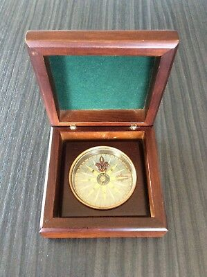 Vintage Compass in Wooden Box