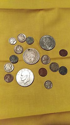 Coin collection old US coins silver Buffalo Liberty peace many others Lot A