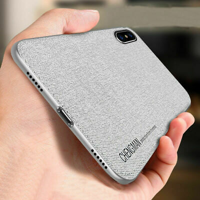 For iPhone XR X 8 7 Plus X XS Max Shockproof Cover Protect Soft TPU Fabric Case