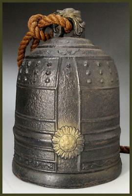 BT71 Japanese Bronze Temple Bell 7.48inch # Vajra Buddhism