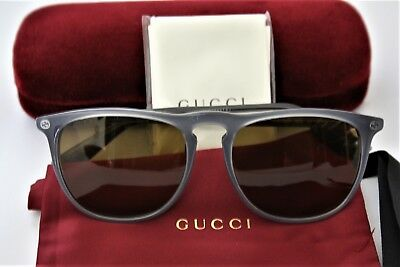399736b3977 GUCCI Gray Frame Green 53mm Lens Sunglasses GG0120 S NEW