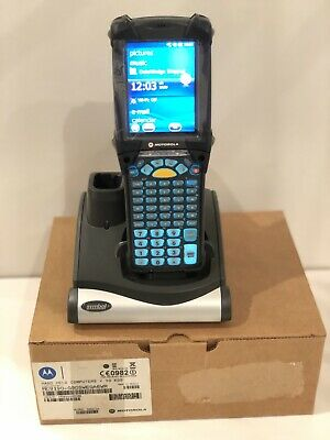 NEW Motorola Symbol MC9190-G Barcode 2D Long Range Rugged Scanner Gun + Cradle