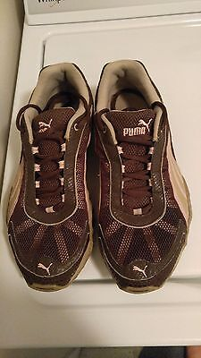 PUMA FIERCE NBK Naturals Women Sneakers Size 8.5 Pink Brown Preowned ... 652141f14