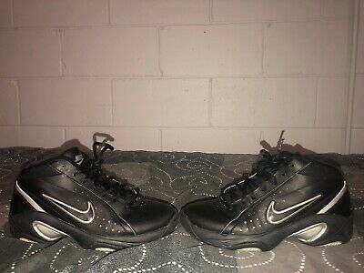 9fa3acdc4545 Nike The Overplay IV Mens Leather Athletic Basketball Shoes Size 8 Black  Gray