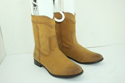 17292f80218 FRYE CARA ROPER Short Riding Boots SZ 9 Womens Leather Cowboy Round ...