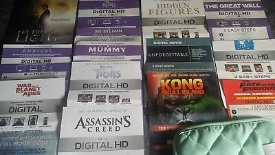 DIGITAL MOVIE CODES. cheap!!!!Only $20 for 5 digital movies