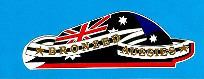 """BRONZED AUSSIES SURFBOARDS"" Sticker Decal SURFING 1970's Retro"