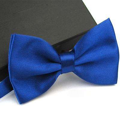 Sapphire Blue Bow Ties Men Bowtie Tuxedo Classic Solid Wedding Party Accessories
