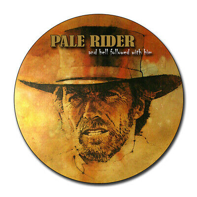 Clint Eastwood in Pale Rider Movie Reproduction Aluminum 11.75 Inch Circle Sign