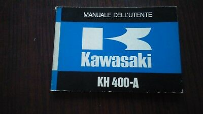Kawasaki KH 400 1977 manuale uso originale italiano owner's manual