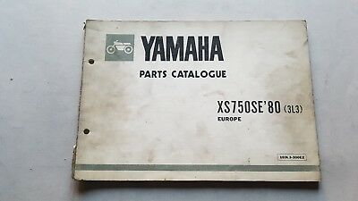 Yamaha XS 650 SE 1980 catalogo ricambi originale spare parts catalogue