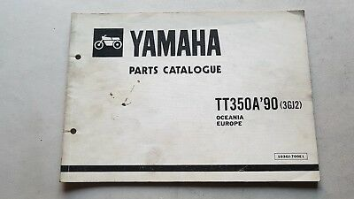 Yamaha TT 350 1990 catalogo ricambi originale spare parts catalog