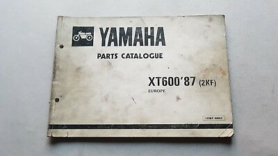 Yamaha XT 600 1987 catalogo ricambi originale spare parts catalogue