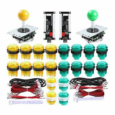 2 Player Arcade Mame PS3 Mame Game DIY Kit Joystick + USB Encoder + LED Buttons
