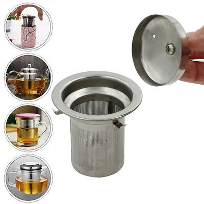 Reusable Mesh Infuser Tea Strainer Leaf Spice Filter Stainless Steel for Teapot~