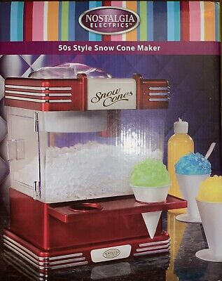 NEW Pottery Barn Kids Retro SNOW CONE Maker Machine🍧 Nostalgia Shave Ice SUMMER