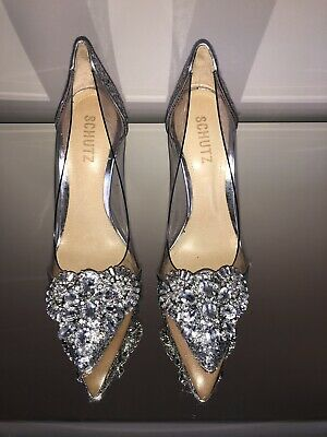 Schutz Bridal Wedding Heels Size 6 Diamonds