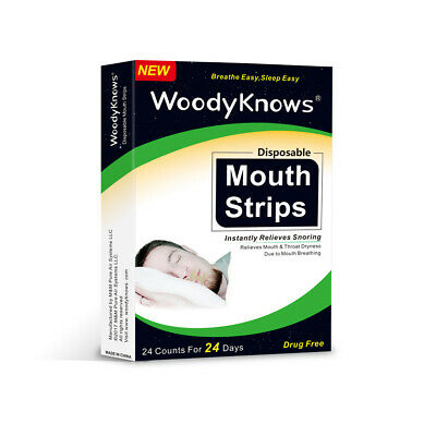 24 Pcs Mouth Strips Disposable Mouth Tape for Sore Throat Snoring Solution N9C7