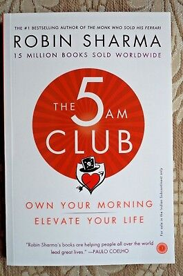 The 5 AM Club ROBIN SHARMA ** NEW** motivational,self-help