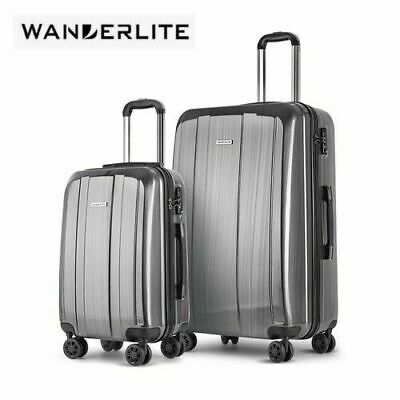 Wanderlite 2pc Luggage Suitcase Trolley Set TSA Hard Case Lightweight
